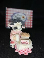Mary's Moo Moos Christmas Is A Time To Share With Moo Milk Cookies Cow Figurine