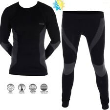 Oxford a Contatto di Pelle Pantaloni termico Traspirante Compression Fit neri T- L/xl