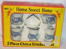 JAYMAR HOME SWEET HOME 5 PIECE CROCKERY SET 7055 - NEW IN THE BOX COND