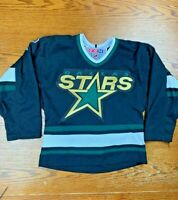 Youth Kid's CCM Air-Knit NHL Dallas Stars Blank Home Jersey S/M Hockey Texas TX