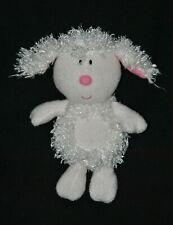 Peluche Doudou mouton agneau LUMINOU JEMINI blanc nez rose brodé 25 cm TTBE