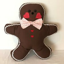 Christmas Gingerbread Cookie Plush Stuffed Pillow Handmade Holiday Decoration