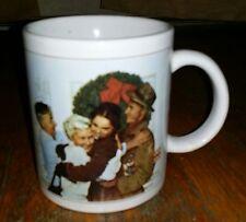 """Norman Rockwell """"Home For Christmas"""" Coffee Mug"""