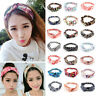 2018 Women Girl Yoga Elastic Turban Floral Twisted Knotted Hair Band Headband US
