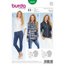 Burda Tops Shirts Blouses Fabric Sewing Pattern 6849