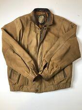 Members Only Men's Vintage Leather Bomber Jacket. Medium. Read Description