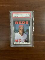 LOT OF 10 PSA GRADED CINCINNATI REDS BASEBALL CARDS