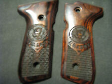 Beretta 92F 92FS U.S. ARMY Rosewood Auto Pistol Grips Fancy Checkered++