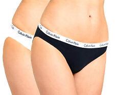 Nuevo Genuine CALVIN KLEIN Bikini Bragas Ropa Interior (2 Pack Negro/Blanco) Grande
