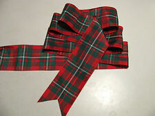 """MacGregor Tartan Red & Green Plaid Ribbon Extra Wide  2 3/4""""  - By the Yard"""