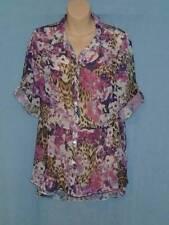 Animal Print Button Down Shirt Machine Washable Regular Tops & Blouses for Women