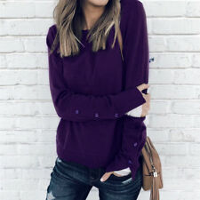 Womens Casual Winter Sweater Sweatershirt Ladies Pullover Thermal Blouse Tops
