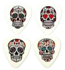 Sugar Skull Day of the Dead Guitar Picks Set of 12 Premium Plectrums