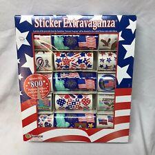 SandyLion Sticker Extravaganza Patriotic Box 800 USA America Flag Liberty Eagle