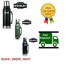1L CLASSIC STANLEY FLASK DRINKS VACUUM BOTTLE LITRE BLACK BLUE GREEN THERMOS UK