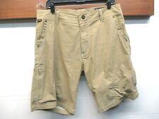 EUC Men's Kuhl Cotton Vintage Patina Zip Pockets Hiking Climbing Shorts Sz34 Tan