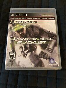 Splinter Cell Blacklist Signature Edition PS3 CIB