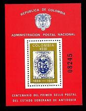 COLOMBIA - BF - 1968 - Centenario del francobollo di Antiochia (n. 08246)