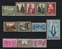 """BELGIUM YVERT TELLIER 363 - 374 """" ORVAL COMPLETE SET 9 STAMPS 1933 """" MNH VF T728"""
