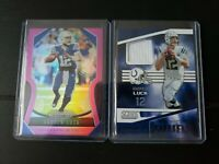 2019 Panini Prizm Andrew Luck Pink + Jersey 2 Card Lot