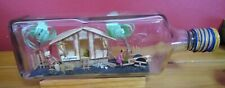 More details for vintage home in a bottle, philippines hut scene nipa hut well made detailed
