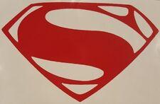"Superman Man of Steel ""S"" Chest Logo vinyl sticker decal choose size/color"
