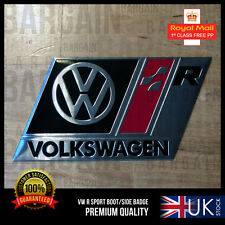 VW R LINE BLACK BOOT WING BADGE PARTS EXHAUST LIGHTS GOLF TSI GTI TDI PASSAT