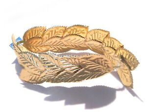Roman Greek Laurel Leaf Gold Crown Julius Caesar Adult Halloween Costume Hat