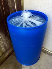 55 Gallon Drum Liners, Plastic, Clear, Food Grade, 4 Mil, Qty 2