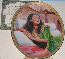 Gone with Wind Cameo Memories Scarlett EMERALD ELEGANCE Collector Plate 5 Bx COA