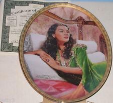 Gone With The Wind CAMEO MEMORIES Scarlett Plate EMERALD ELEGANCE #5 Box w/COA