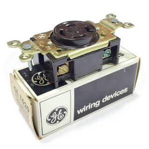General Electric (GE) GL1620 Single Locking Receptacle, Brown, 20A 480VAC