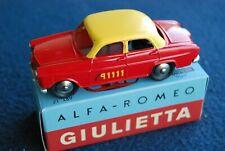 Nice hatchet no17 mercury toys alfa romeo giulietta bern taxi red & yellow