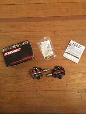 """Time ATAC XS Carbon Clipless Mountain Bike Pedals 9/16"""" w/ Cleats New NIB"""