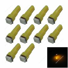 10X Yellow T5 74 17 1SMD 5050 LED Dashboard Licence Plate Speed Wedge Light Bulb