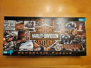 Harley Davidson 750 Piece Panoramic Jigsaw Puzzle Buffalo Games 3+ Feet Wide