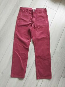 Marks And Spencer Cord Trousers Size 12 Wine Front And Back Pockets