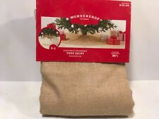 """Wondershop Christmas Tree Skirt Burlap Brown Cinchable Reversible 56"""" Target"""