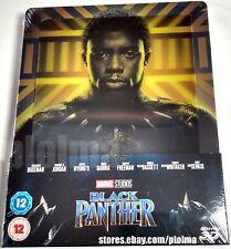 Black Panther Brand New 3D + 2D Blu-Ray Steelbook Region-Free 2018 Marvel Movie