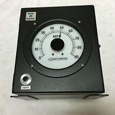 Bach Simpson Train Analog Speed Indicator 52223-2311 Daul Range 0-90 MPH NEW!