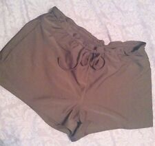 SOLANA BAY Cocoa BROWN Boyshorts Bathing Suit Swim Bootie Shorts BOTTOMS L Large
