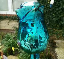 Große Gartenkugel 25 cm Glaskugel Blau Antik Kugel Dekokugel Glas Garten