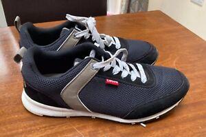 Levi's Almayer Mens Black Trainers Sneakers Size Uk 8 Levi Comfy Shoes Levis