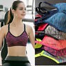 Women Fitness Stretch Workout Tank Top Seamless Racerback Padded Sports Yoga Bra