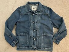 LEVIS MADE AND CRAFTED LMC TYPE 2 WORN TRUCKER YANGER MEDIUM WASH LARGE