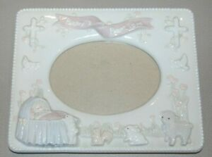 """RUSS 4""""X6"""" INCH BAPTISMAL GIRL PICTURE FRAME"""