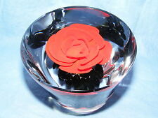 Caithness Glass Paperweight Royal Horticultural  Society Red Rose Ltd Edition