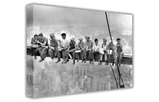 LARGE NOSTALGIC CANVAS PICTURE LUNCH ATOP A SKYSCRAPER / WALL ART / PHOTO PRINTS