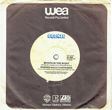 """MANFRED MANN'S EARTH BAND - SPIRIT IN THE NIGHT (SPRINGSTEEN) 7"""" 45 VINYL RECORD"""
