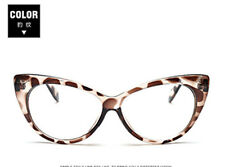 Retro Leopard Eyeglasses Frames Glasses Eyewear Cat Eye Clear Lens Fashion